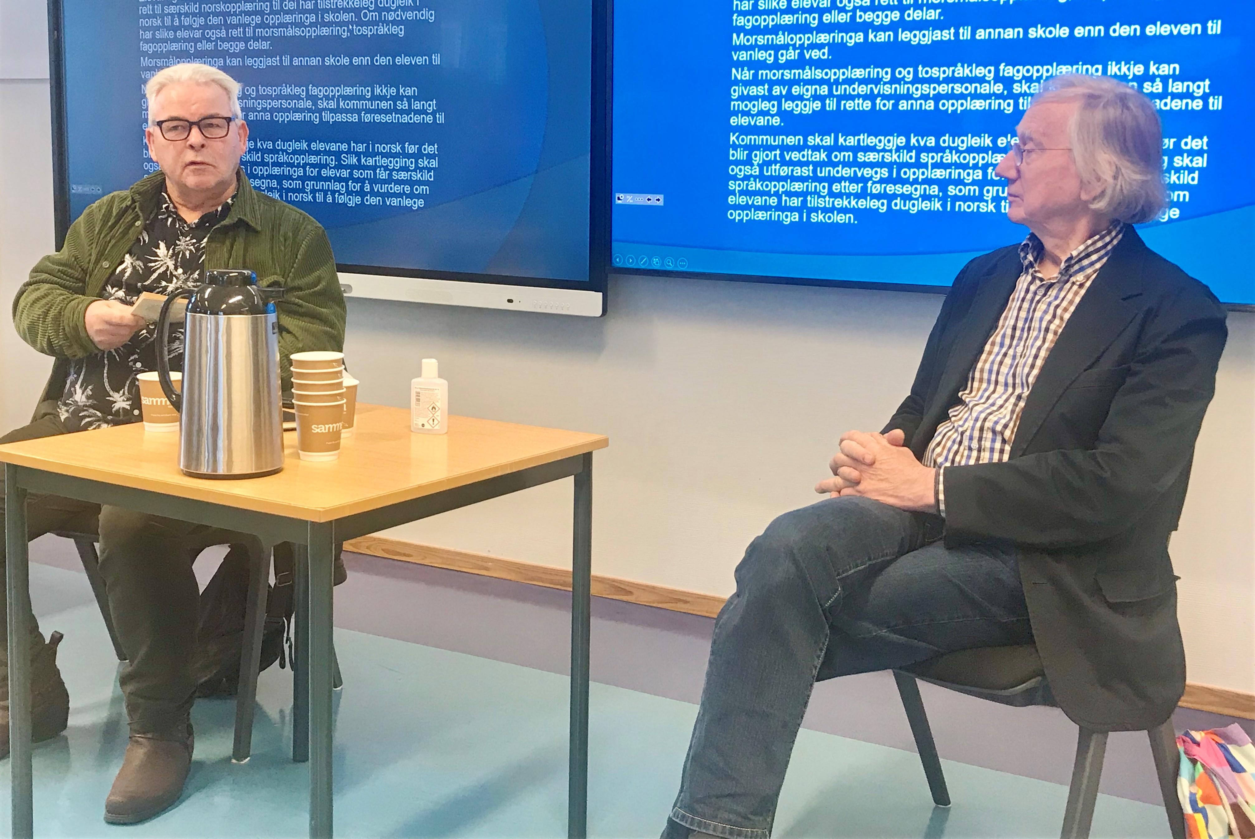 Atle Hansen og Einar Økland under Klassikartimen 2020