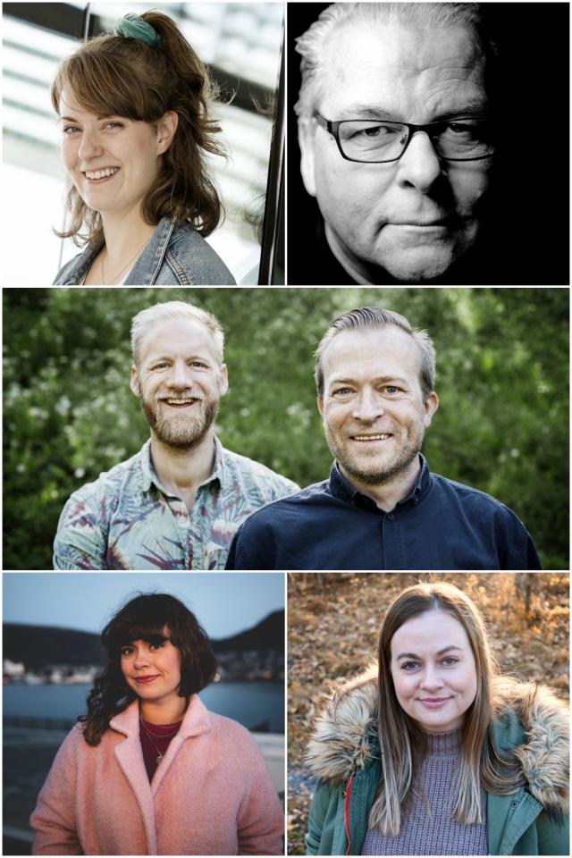 Fem forfattarar på Nettlest